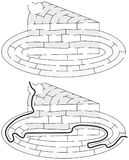 Labirinto fácil do bolo ilustração royalty free