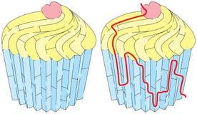 Labirinto fácil do bolo do copo ilustração do vetor