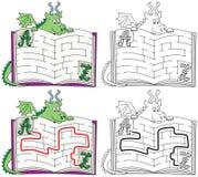 Labirinto fácil do dragão ilustração royalty free