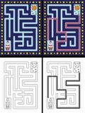 Labirinto fácil do foguete ilustração stock