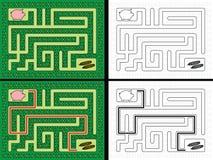Labirinto fácil do leitão ilustração stock