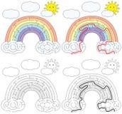 Labirinto facile dell'arcobaleno illustrazione vettoriale