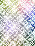 Labirinto futuristico illustrazione di stock