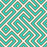 Labirinto geométrico Imagens de Stock Royalty Free