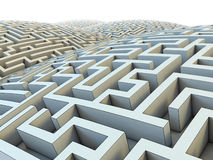 Labirinto infinito Foto de Stock Royalty Free