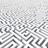 Labirinto infinito. Immagini Stock