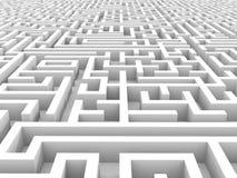 Labirinto infinito branco Fotos de Stock Royalty Free