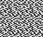 Labirinto isometrico con il percorso bianco ed i bordi neri e grigi strutturati Immagini Stock Libere da Diritti