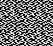 Labirinto isometrico con il percorso nero ed i bordi bianchi e grigi strutturati Immagine Stock Libera da Diritti