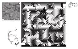 Labirinto, labirinto, difficoltà, puzzle, quadrato, gioco, schizzo, pagina ad alto livello e di coloritura, il nero, attività, di Immagini Stock