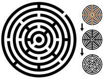 Labirinto - labirinto fácil da mudança - mude a cor qualquer parte Foto de Stock