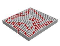 labirinto/labirinto feito com efeito 3D Fotografia de Stock Royalty Free