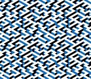 Labirinto, labirinto - modello senza fine isometrico Vettore Fotografie Stock Libere da Diritti