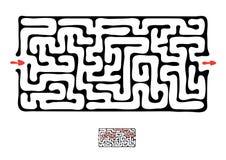 Labirinto nero di vettore Fotografie Stock Libere da Diritti