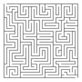 Labirinto/labirinto no fundo branco ilustração royalty free
