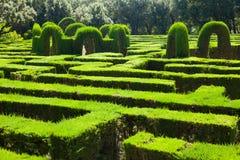 Labirinto no parque do labirinto   em Barcelona Imagens de Stock Royalty Free