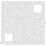 Labirinto quadrado complexo abstrato com entrada e saída Um jogo interessante para crianças e adultos Ilustração do vetor isolada Ilustração Royalty Free