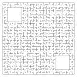 Labirinto quadrado complexo abstrato com entrada e saída Um jogo interessante para crianças e adultos Ilustração do vetor isolada Ilustração do Vetor
