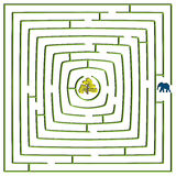 Labirinto quadrado redondo Imagens de Stock Royalty Free