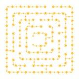 Labirinto quadrado simples - céu estrelado Jogo para miúdos Enigma para crianças Uma entrada, uma saída Enigma do labirinto Vetor imagens de stock royalty free