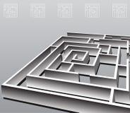 Labirinto quadrato Immagini Stock