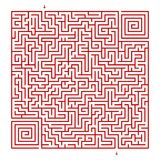 Labirinto quadrato su un fondo bianco royalty illustrazione gratis
