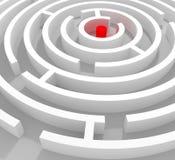 Labirinto redondo Foto de Stock