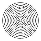 Labirinto redondo ilustração royalty free