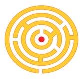 Labirinto redondo imagens de stock