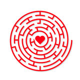 Labirinto redondo da terra do vetor Imagem de Stock Royalty Free