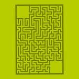 Labirinto retangular abstrato Jogo para miúdos Enigma para crianças Enigma do labirinto Ilustração lisa do vetor isolada na cor foto de stock