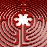 Labirinto rosso Royalty Illustrazione gratis