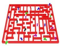Labirinto rosso Immagini Stock Libere da Diritti