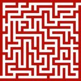 Labirinto rosso Immagine Stock