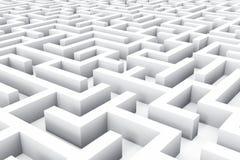 Labirinto senza fine Immagini Stock
