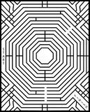 Labirinto simples Foto de Stock Royalty Free