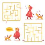 Labirinto simples do ` s das crianças Imagem de Stock