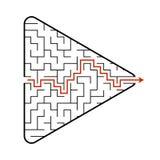 Labirinto sotto forma di una freccia Gioco per i bambini Puzzle per i bambini Trovi il percorso giusto Enigma del labirinto Vetto illustrazione vettoriale