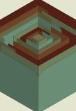 Labirinto stilizzato 3D Fotografia Stock