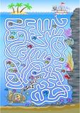 Labirinto subaquático para crianças Imagem de Stock Royalty Free