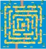 Labirinto tropical do console Fotografia de Stock Royalty Free
