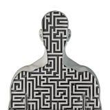 Labirinto umano Fotografia Stock