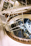 Labirintos industriais do metal no central nuclear Fotos de Stock