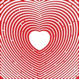 labirynt Ścieżka serce czerwona róża Symbol miłość royalty ilustracja