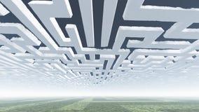 Labirynt Chmurnieje w niebie Obraz Stock