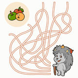 Labirynt gra dla dzieci (jeż) Zdjęcie Stock