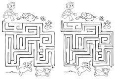 Labirynt gra dla dzieci wektorowych ilustracja wektor