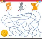 Labirynt gra z figlarka charakterami royalty ilustracja