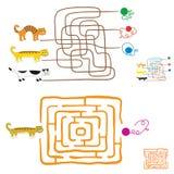 Labirynt gry dla preschoolers royalty ilustracja