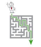 Labirynt i rozwiązanie ilustracja wektor
